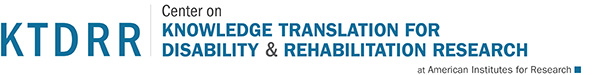 Home - Center on Knowledge Translation for Disability and Rehabilitation Research (KTDRR) at American Institutes for Research