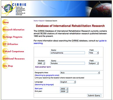 Database of systematic reviews