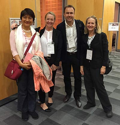 (left to right) Photo of Cindy Cai, Ann Outlaw, Oliver Wednt, and Kathleen Murphy
