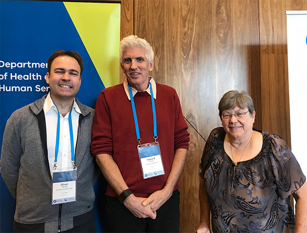 Photo of Oliver Wendt, Howard White, and Joann Starks at the Global Evidence and Implementation Summit.