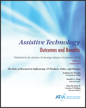 Cover art for Assistive Technology Outcomes and Benefits