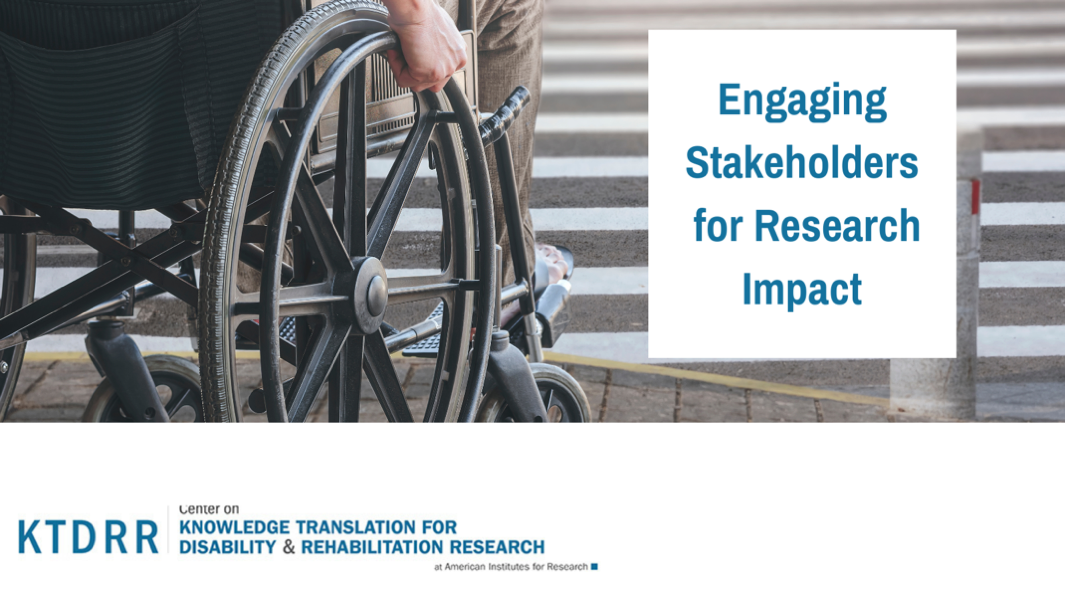 Engaging Stakeholders for Research Impact